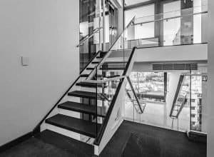 Custom designed glass balustrade