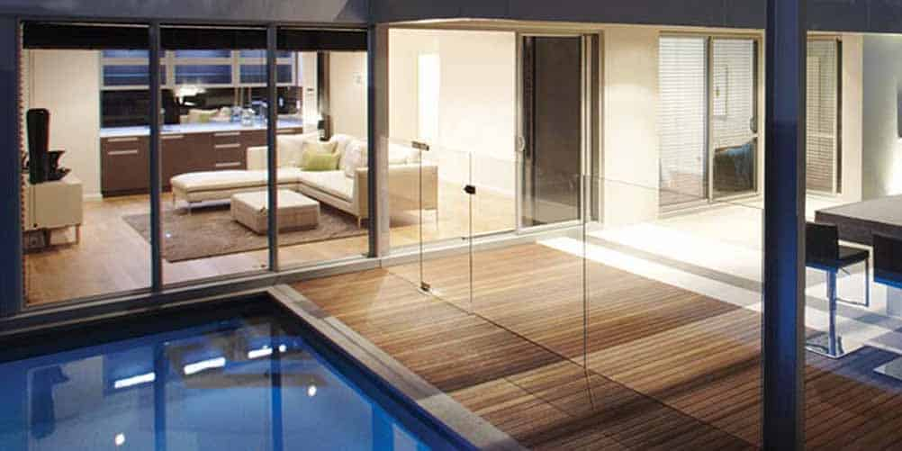 Frameless Glass Pool Fencing Channel Fixed