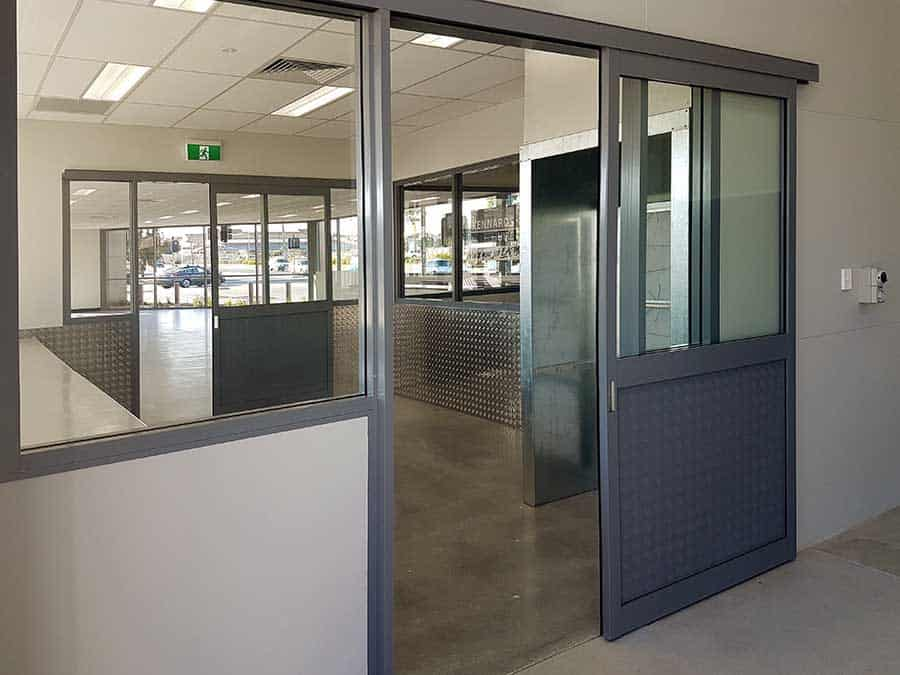 Office Partition with Sliding Doors