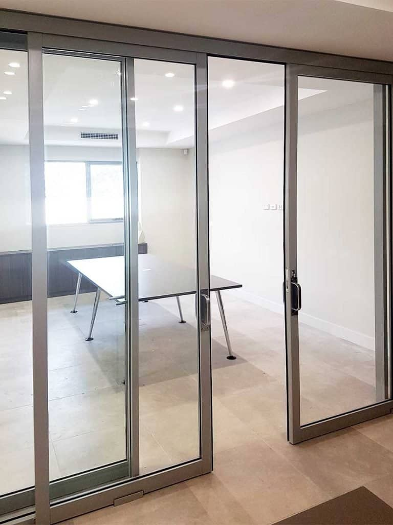 Office Partitions with Sliding Doors